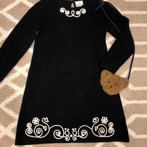 Hanna Andersson stunning b&w sweater dress 130